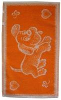 Dětský ručník Pejsek oranžový 30x50 cm