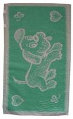 Dětský ručník Pejsek světle zelený 30x50 cm