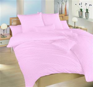 Povlečení bavlna Puntík bílý na růžovém 40x40 cm povlak