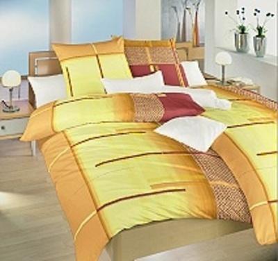 Povlečení bavlna Řetízky oranžové 220x220 cm povlak