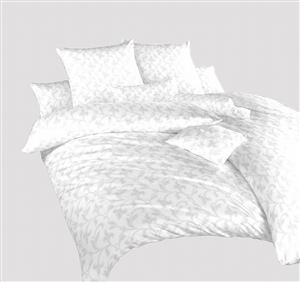 Povlečení damašek Rokoko bílé 220x200 cm povlak