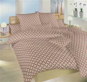 Povlečení bavlna Roma nugát 140x220, 70x90 cm