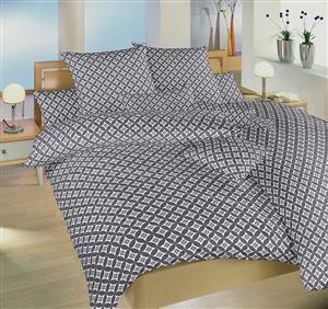 Povlečení bavlna Roma šedá 140x200 cm povlak