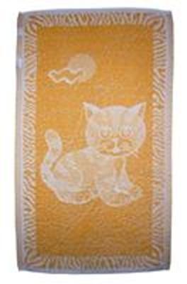 Dětský ručník Kotě okrové 30x50 cm