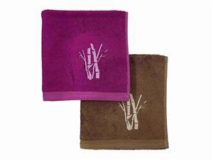 Bambusový ručník Boston cyklaménový 50x100 cm