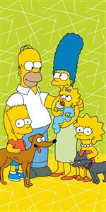 Osuška Simpsons family green 02 70x140 cm