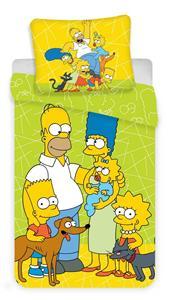 Povlečení Simpsons green 02 140x200, 70x90 cm
