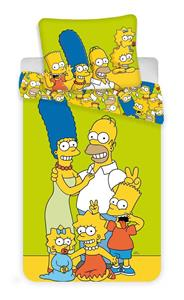 Povlečení Simpsons yellow green 140x200, 70x90 cm