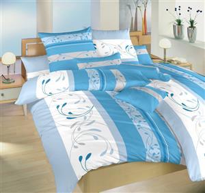 Krepové povlečení Slezsko modré II.jakost 140x200 90x70 cm