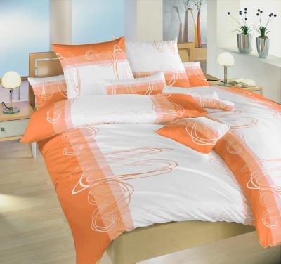 Bavlněné povlečení  Smyčky oranžové II.jakost 140x200 90x70 cm