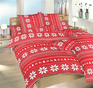 Povlečení bavlna Sobi červení 220x220 cm povlak