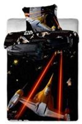 Povlečení bavlna Star Wars spaceships 140x200, 70x90 cm