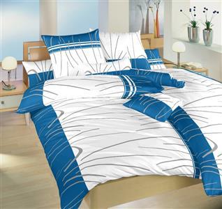 Povlečení bavlna Tenerife modré 240x200, 2x70x90 cm