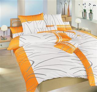 Povlečení bavlna Tenerife oranžové 240x220 cm povlak