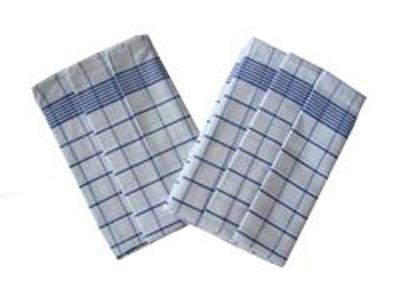 Utěrka Negativ Egyptská bavlna 50x70 - bílá/modrá 3 ks