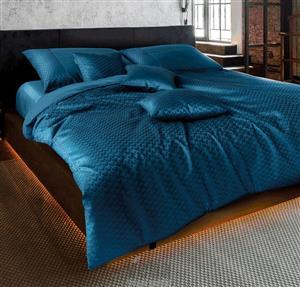 Povlečení damašek Vivien Industrial modrý 140x220, 70x90 cm