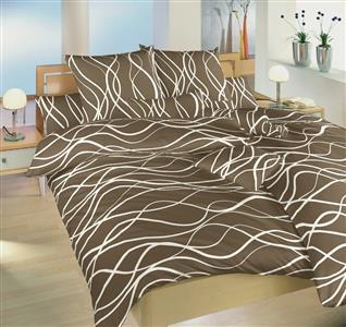 Povlečení bavlna Vlny banánové 220x220 cm povlak
