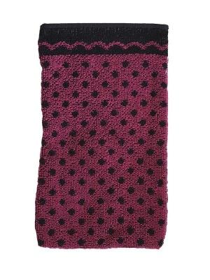 Žínka černý puntík/ostružinová 15x25 cm