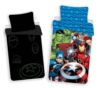 Povlečení Avengers 02 svítící efekt 140x200, 70x90 cm