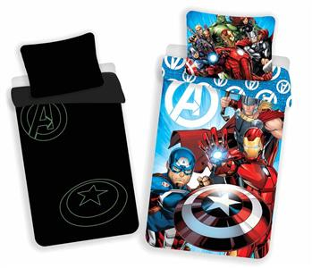 Povlečení Avengers svítící efekt 140x200, 70x90 cm