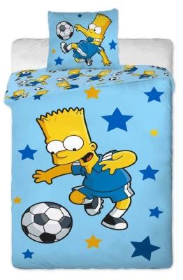 Povlečení Simpsons Bart blue