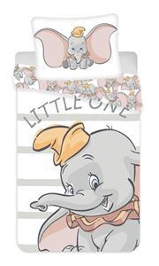 Povlečení Dumbo grey stripe 140x200, 70x90 cm