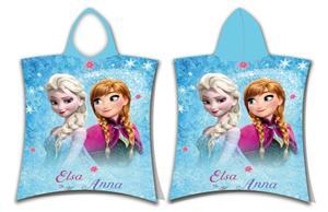 Pončo Frozen glitter 50x115 cm