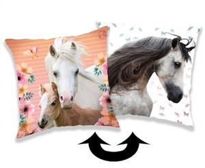 Polštářek s flitry Horse square 40x40 cm