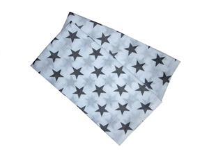 Bambusová plena 70x70 cm - Hvězdy šedé  (balení 5 ks)