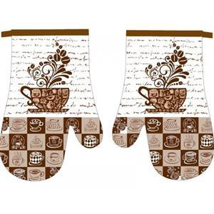 Kuchyňská chňapka 2 ks Kávové zrno 18x27 cm
