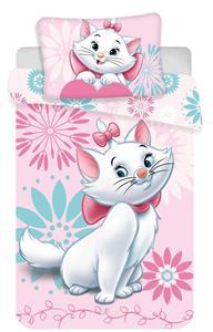 Disney povlečení do postýlky Marie cat flowers baby 100x135, 60x40 cm
