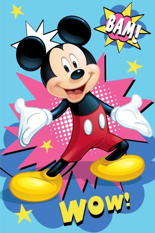 Dětská fleecová deka Mickey Bam 100x150 cm