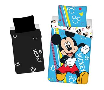 """Povlečení Mickey """"Happy"""" svítící efekt 140x200, 70x90 cm"""