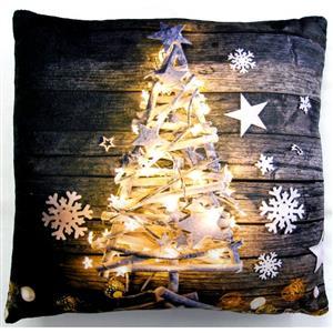 Svítící dekorační polštářek Stromeček 40x40 cm