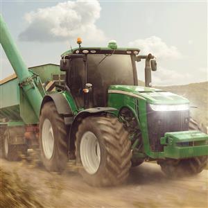 "Povlak na polštářek Traktor ""Green"" 40x40 cm"