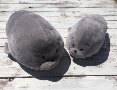 Polštářek Tuleň šedý 35 cm