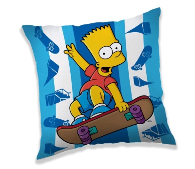 Polštářek Simpsons Bart skater 40x40 cm
